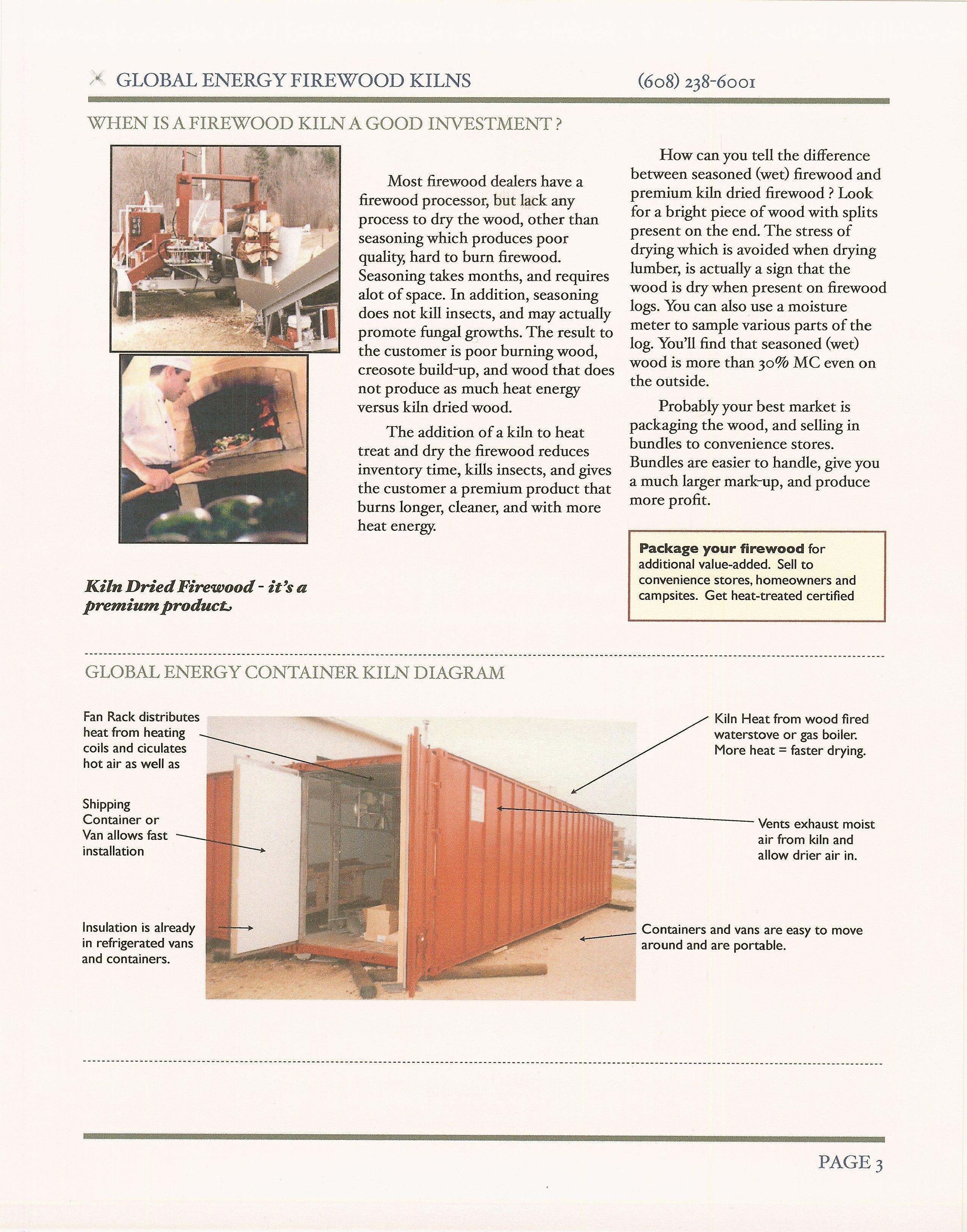 Features of a Firewood Container Dry Kiln